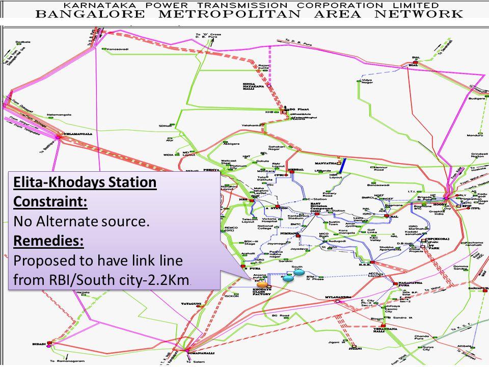 Elita-Khodays Station Constraint: No Alternate source.