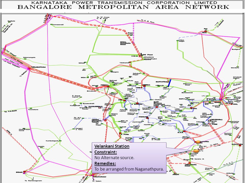 Velankani Station Constraint: No Alternate source.