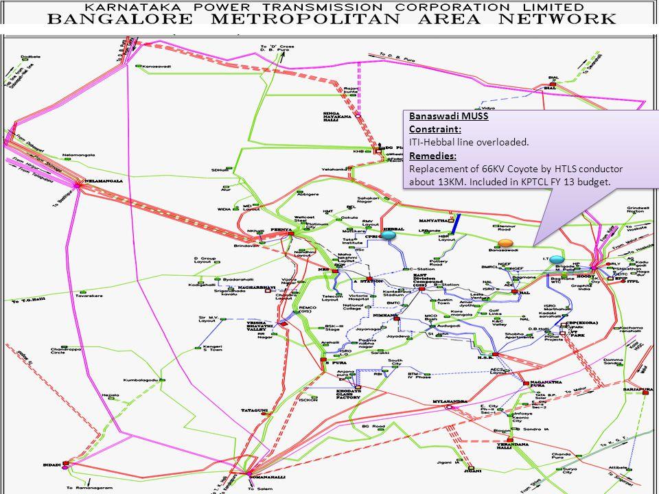 Banaswadi MUSS Constraint: ITI-Hebbal line overloaded.