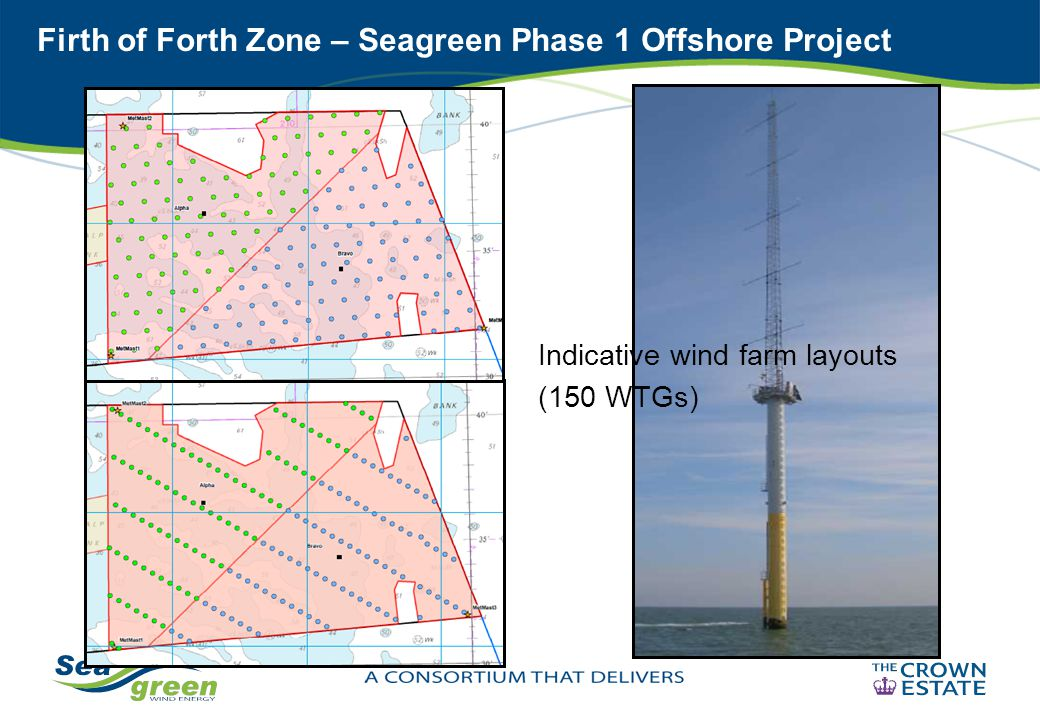 Firth of Forth Zone – Seagreen Phase 1 Offshore Project Indicative wind farm layouts (150 WTGs)