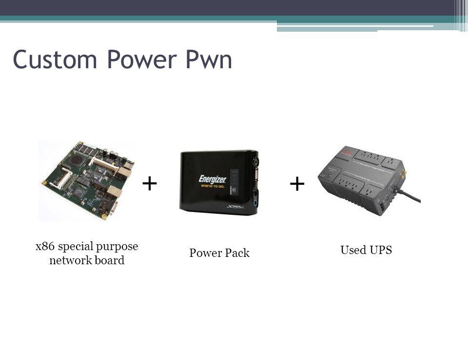 Custom Power Pwn + + x86 special purpose network board Used UPS Power Pack
