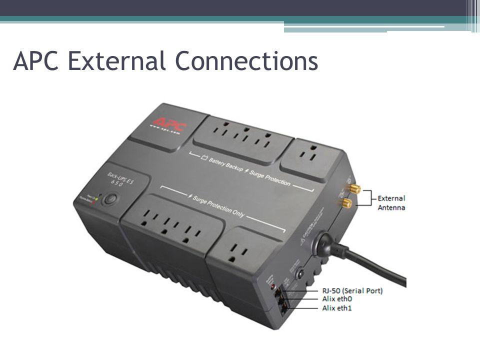APC External Connections