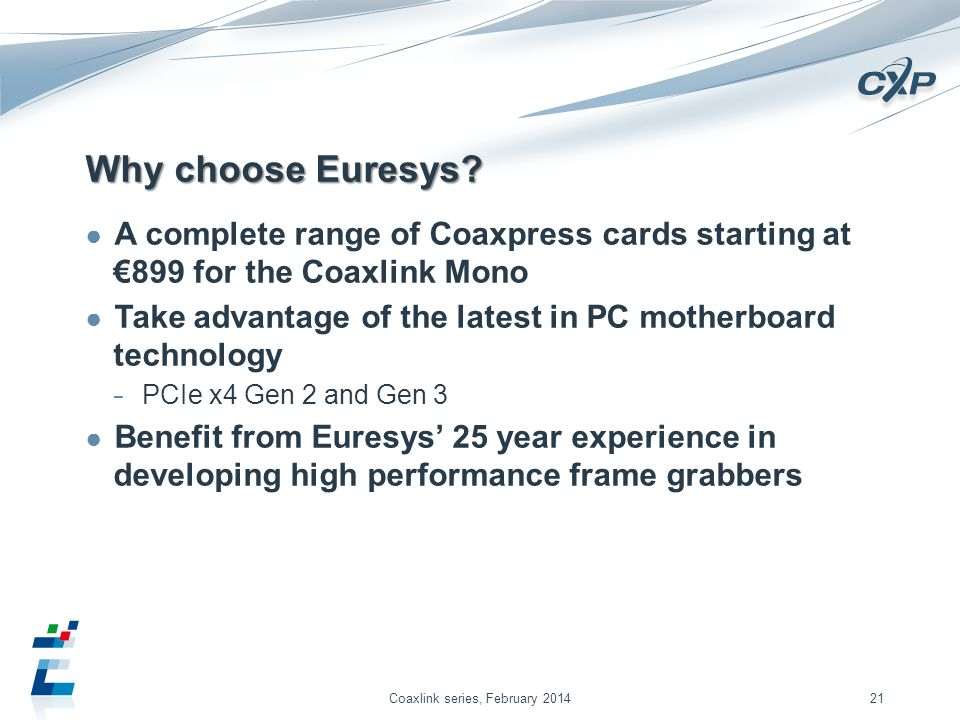 Why choose Euresys.