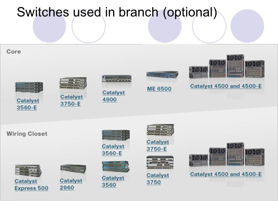 Switches used in branch (optional)