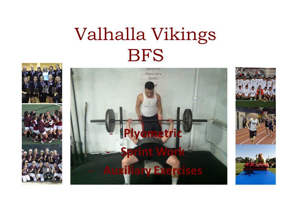 -Plyometric -Sprint Work -Auxiliary Exercises Valhalla Vikings BFS