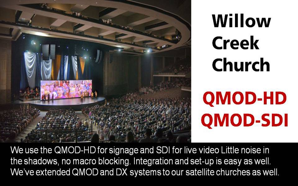 Yes, they now own a QMOD-SDI!