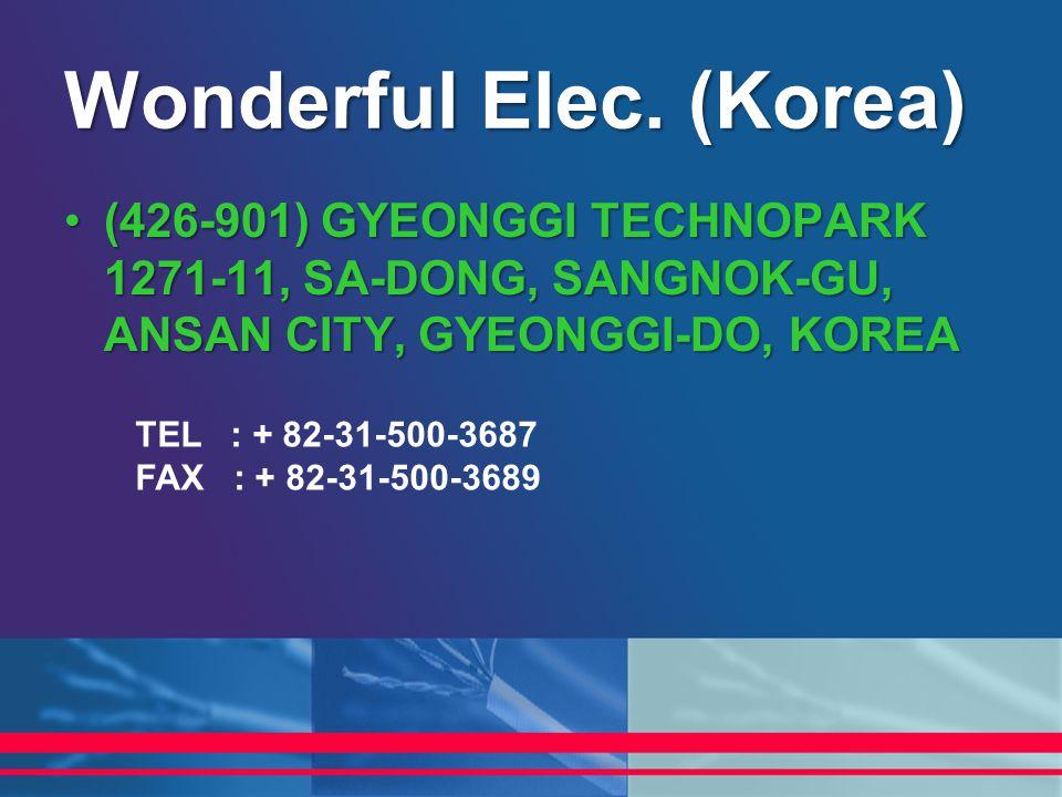 (426-901) GYEONGGI TECHNOPARK 1271-11, SA-DONG, SANGNOK-GU, ANSAN CITY, GYEONGGI-DO, KOREA(426-901) GYEONGGI TECHNOPARK 1271-11, SA-DONG, SANGNOK-GU,