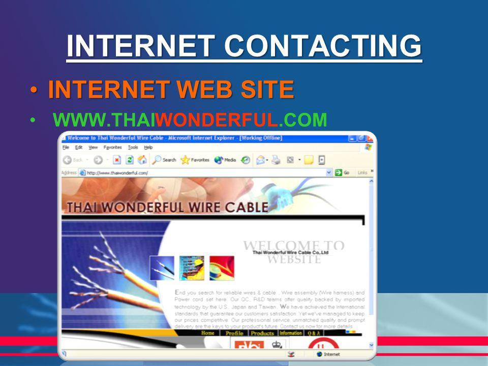 INTERNET CONTACTING INTERNET WEB SITEINTERNET WEB SITE WWW.THAIWONDERFUL.COM