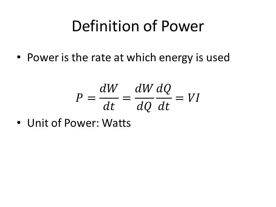 Definition of Power
