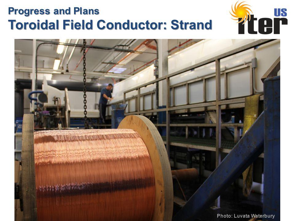 Progress and Plans Toroidal Field Conductor: Strand Photo: Luvata Waterbury