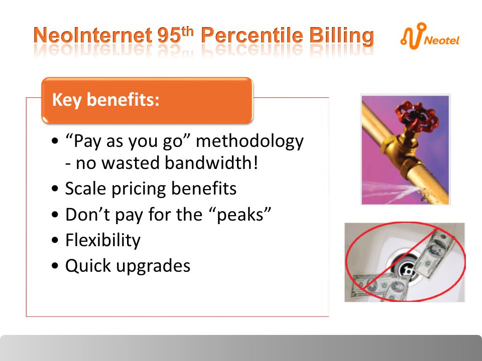 Pay as you go methodology - no wasted bandwidth.