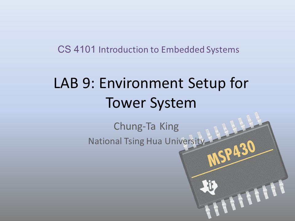 Setting up the Tower System Use a PC (host) to control and develop programs for the Tower System (target), and load files to the Tower System – Connect one end of the USB cable to the PC and the other end to the power/OSJTAG mini-B connector on the TWR-K60D100M module.