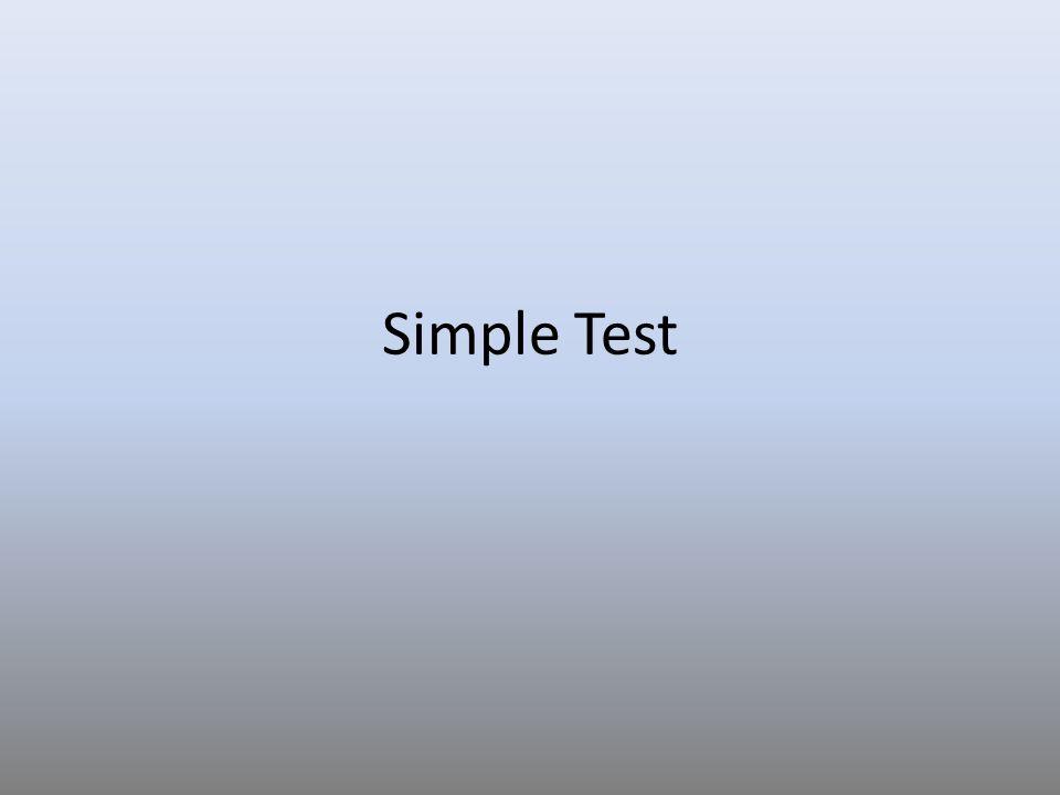Simple Test