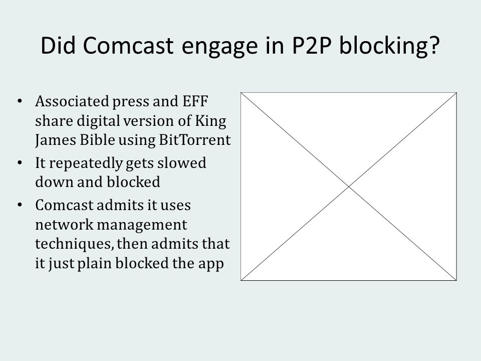 Did Comcast engage in P2P blocking.