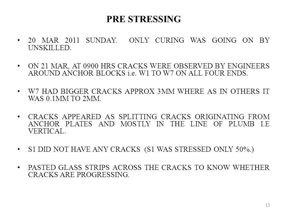 PRE STRESSING 20 MAR 2011 SUNDAY. ONLY CURING WAS GOING ON BY UNSKILLED.