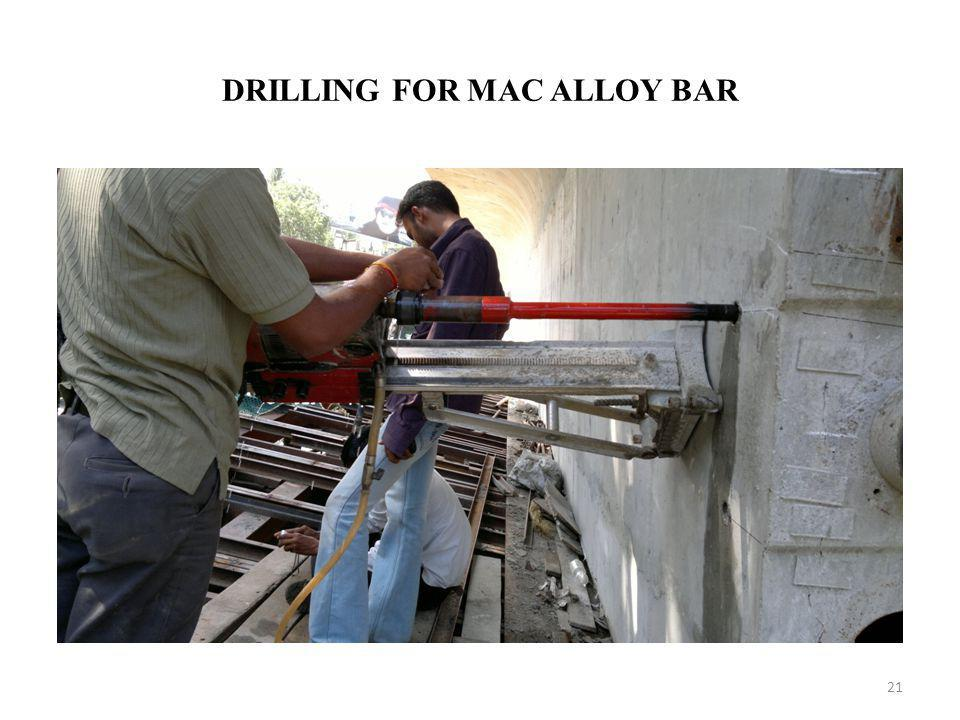 DRILLING FOR MAC ALLOY BAR 21