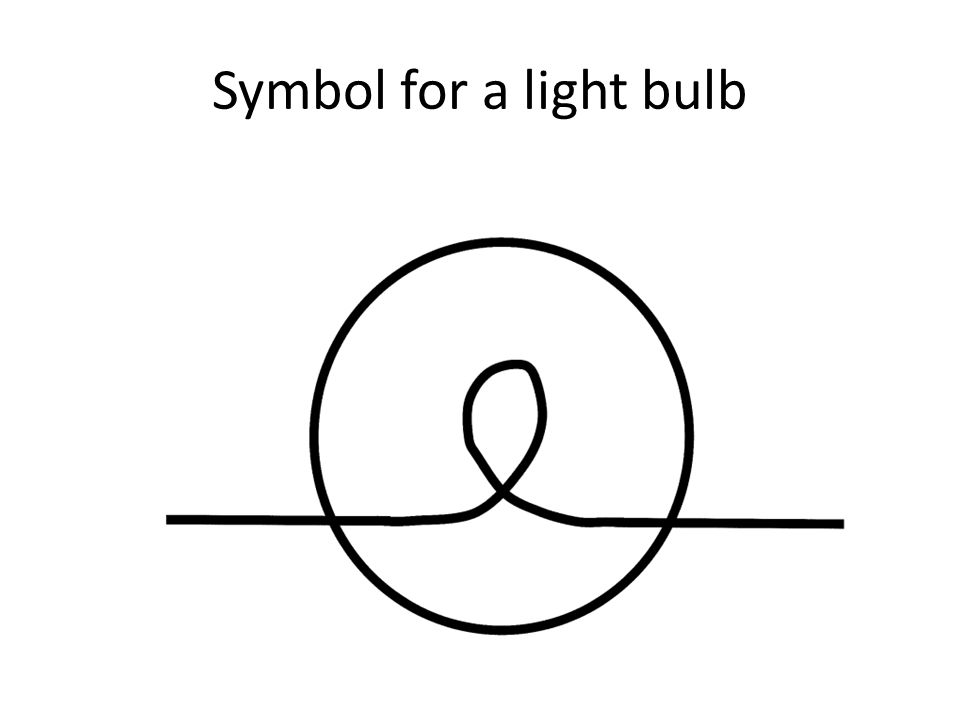 Symbol for a light bulb