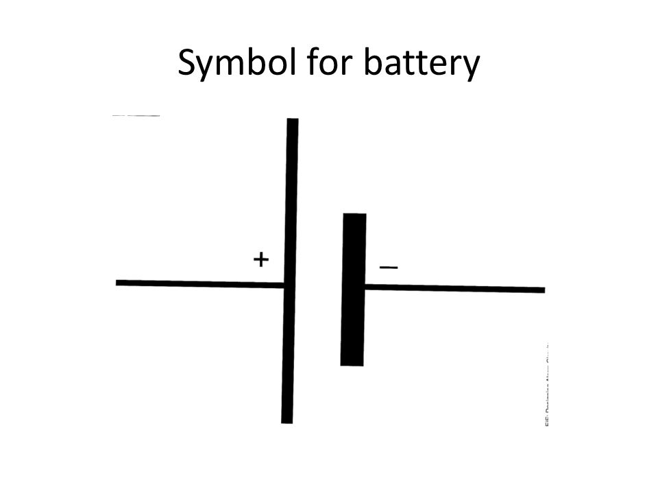 Symbol for battery