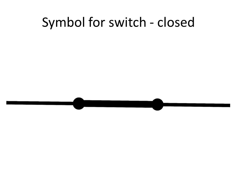 Symbol for switch - closed