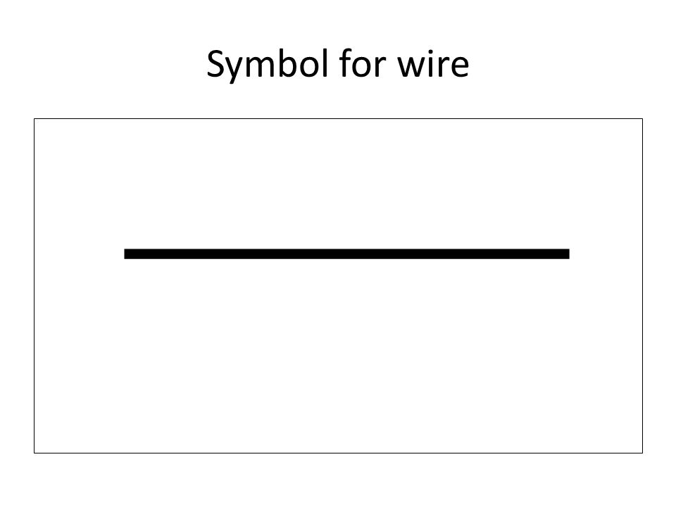 Symbol for wire