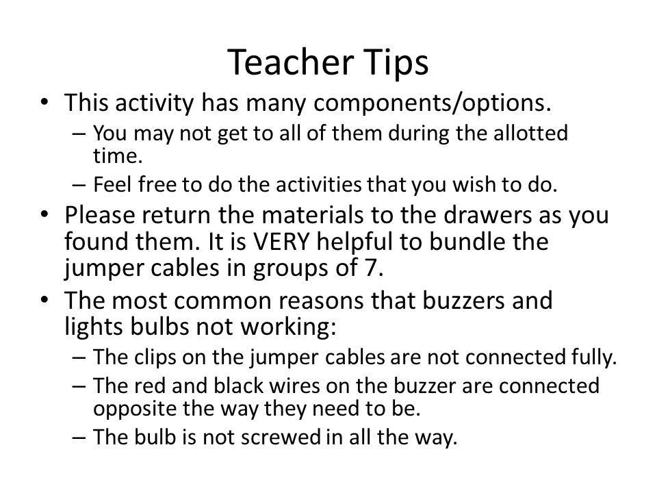 Teacher Prep Assemble materials from following page.
