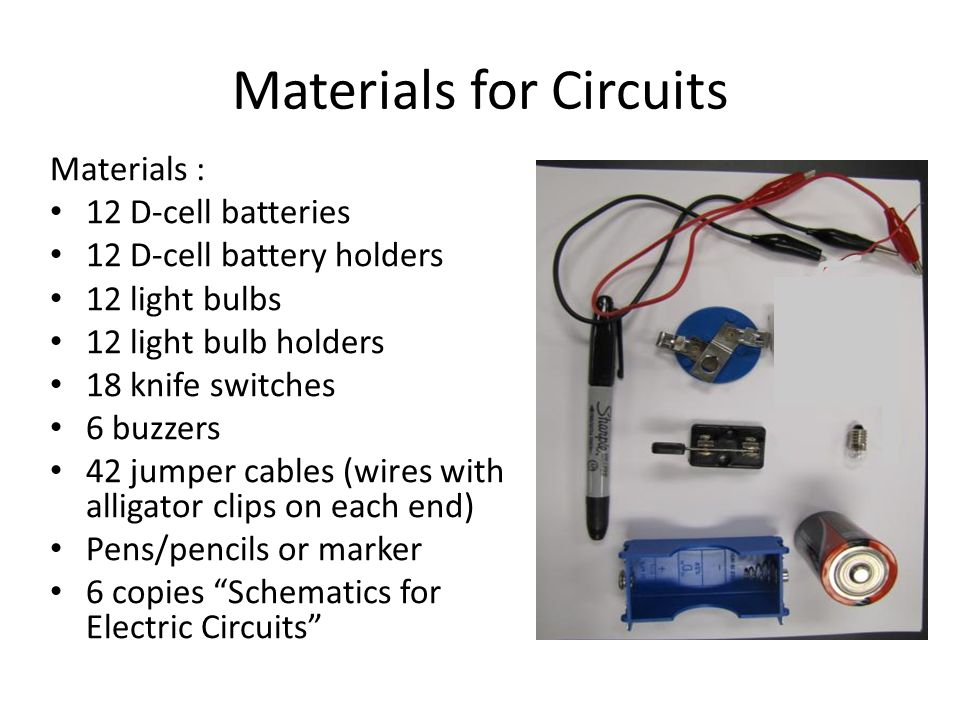 Draw a schematic for this circuit with a buzzer and lightbulb.