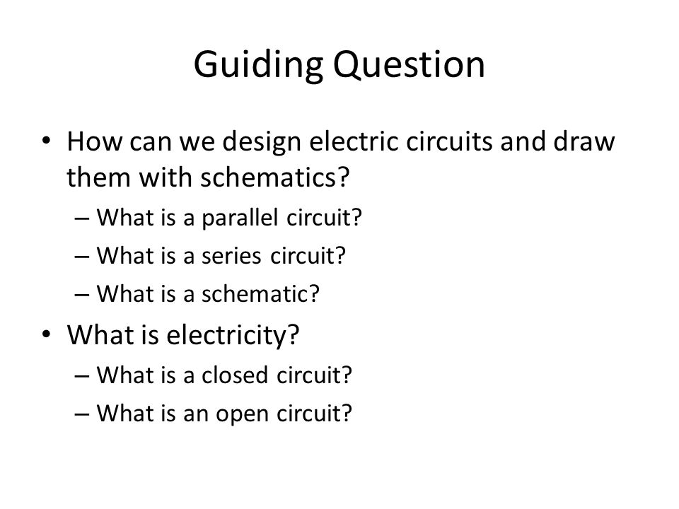 Activity 1 – Review Simple Circuits (5 minutes)