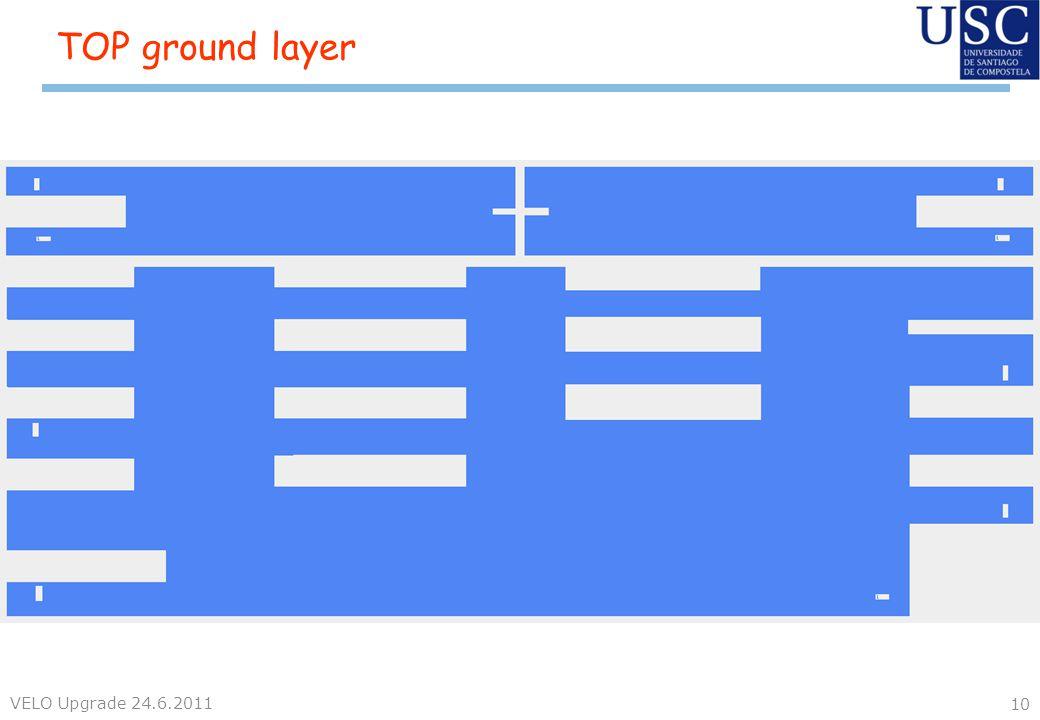 TOP ground layer VELO Upgrade 24.6.2011 10