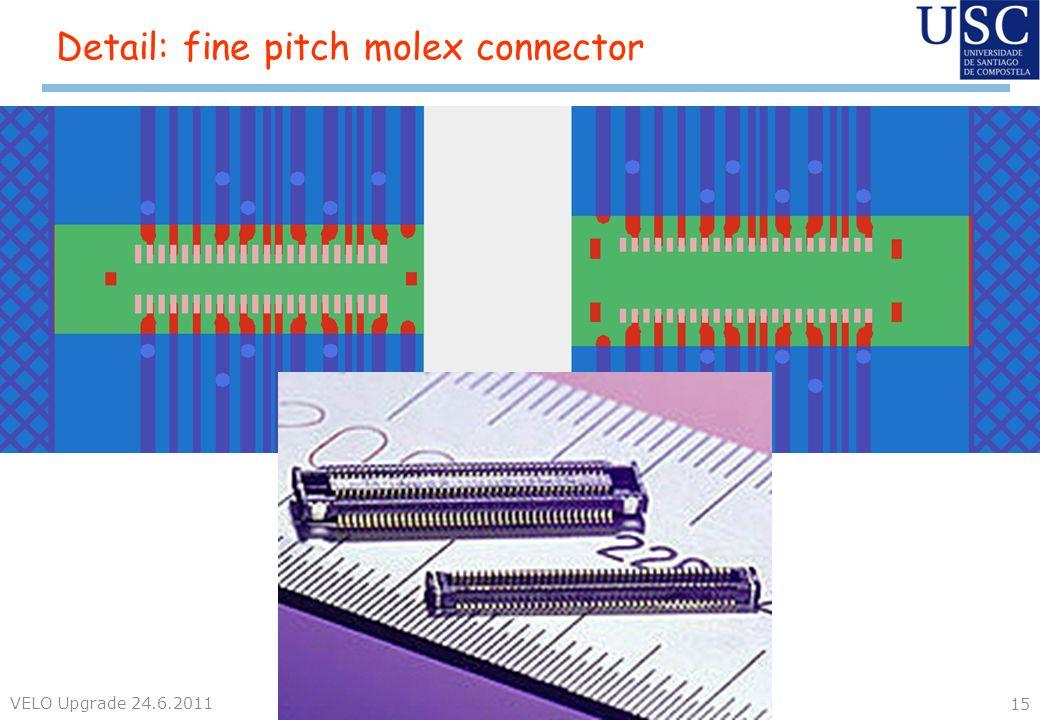 Detail: fine pitch molex connector VELO Upgrade 24.6.2011 15