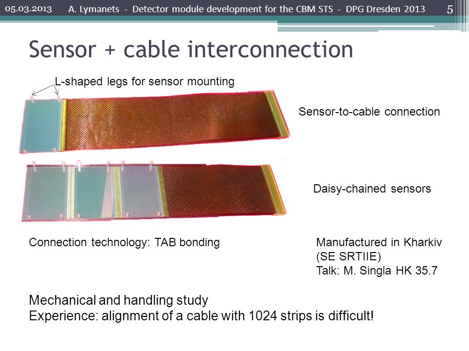 Sensor + cable interconnection A.