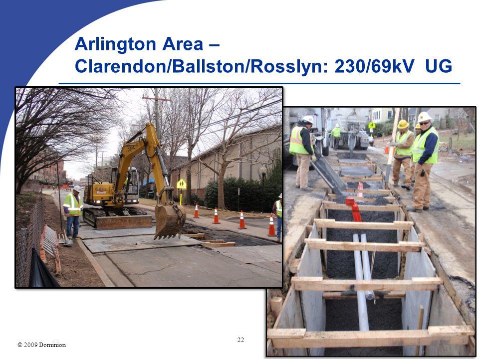 © 2003 Dominion 22 © 2009 Dominion Picture Arlington Area – Clarendon/Ballston/Rosslyn: 230/69kV UG