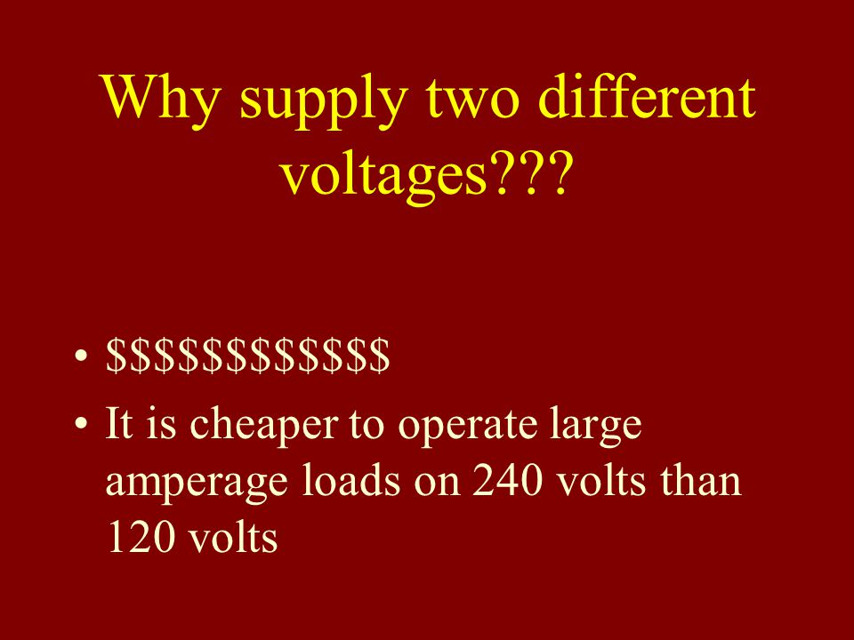 Why supply two different voltages??.