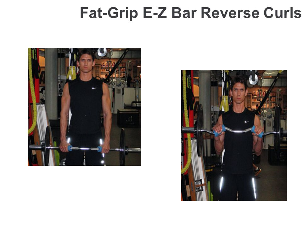 Fat-Grip E-Z Bar Reverse Curls