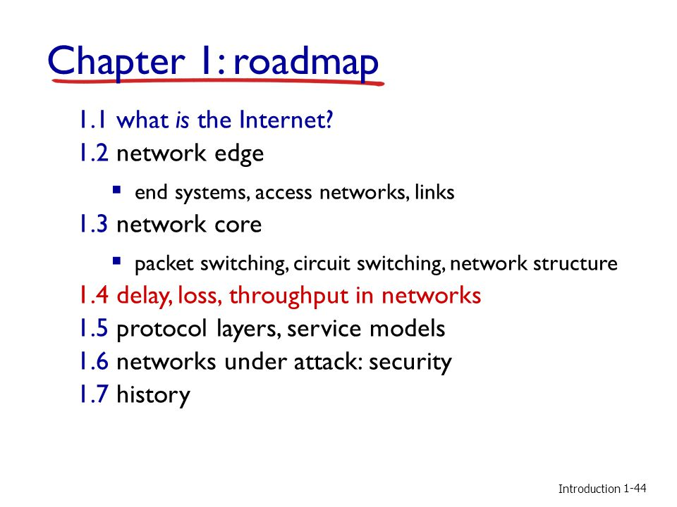 Introduction Chapter 1: roadmap 1.1 what is the Internet.