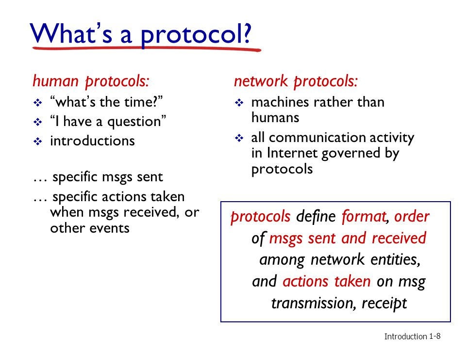 Introduction a human protocol and a computer network protocol: Q: other human protocols.