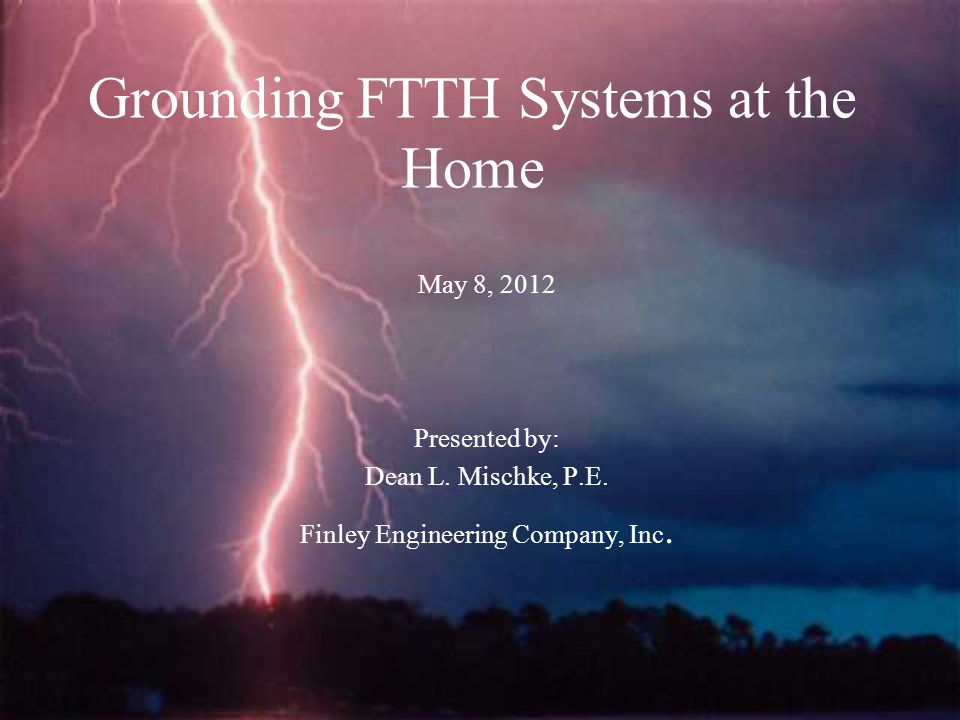 Disclaimer The following presentation is the opinion of Dean Mischke and has not been verified with NFPA or IEEE.