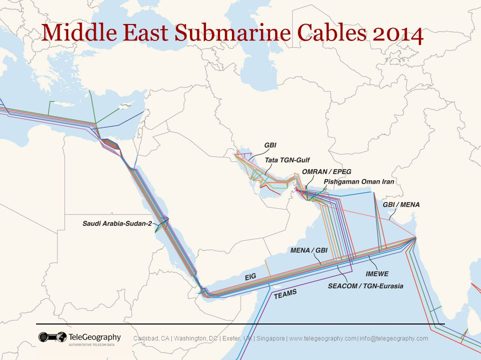 Middle East Submarine Cables 2014 Carlsbad, CA | Washington, DC | Exeter, UK | Singapore | www.telegeography.com | info@telegeography.com