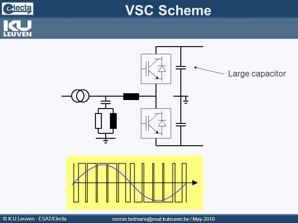 © K.U.Leuven - ESAT/Electa ronnie.belmans@esat.kuleuven.be / May-2010 VSC Scheme Large capacitor