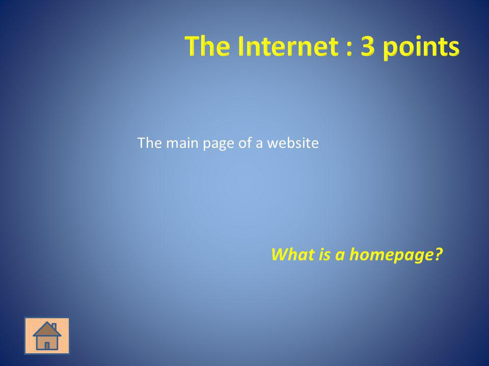 What is a homepage?