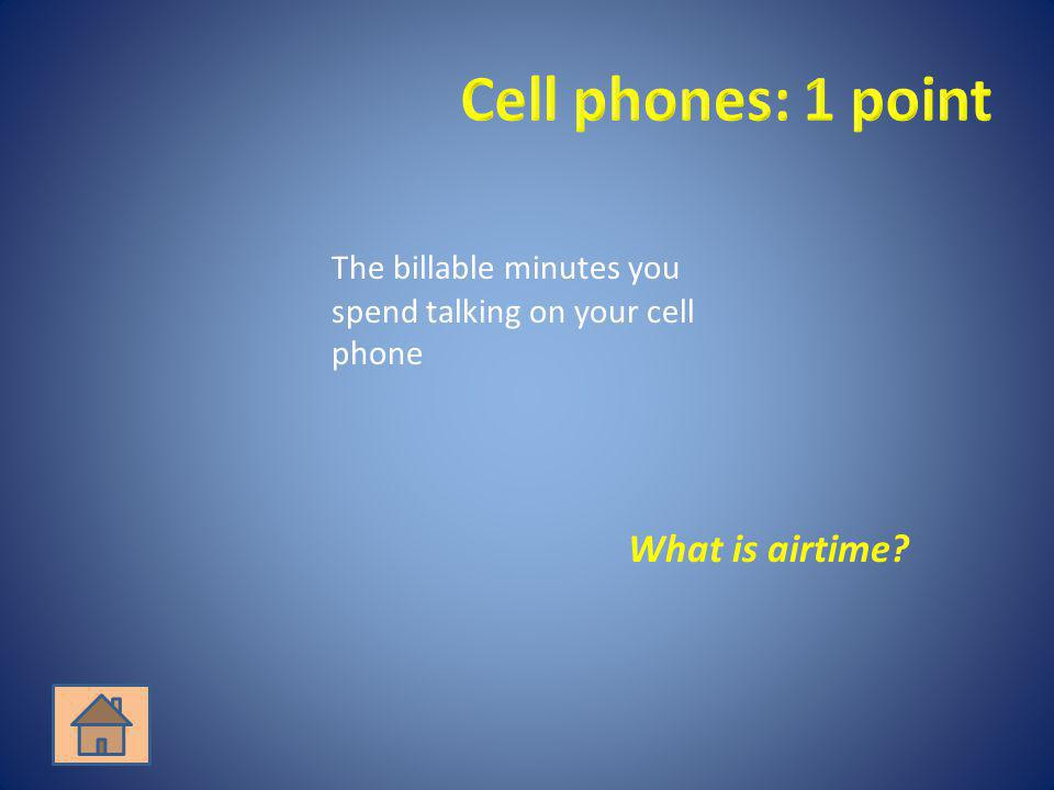What is airtime?