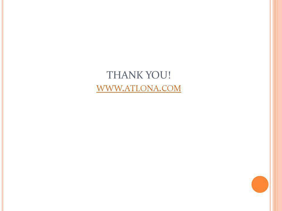 THANK YOU! WWW. ATLONA. COM WWW. ATLONA. COM
