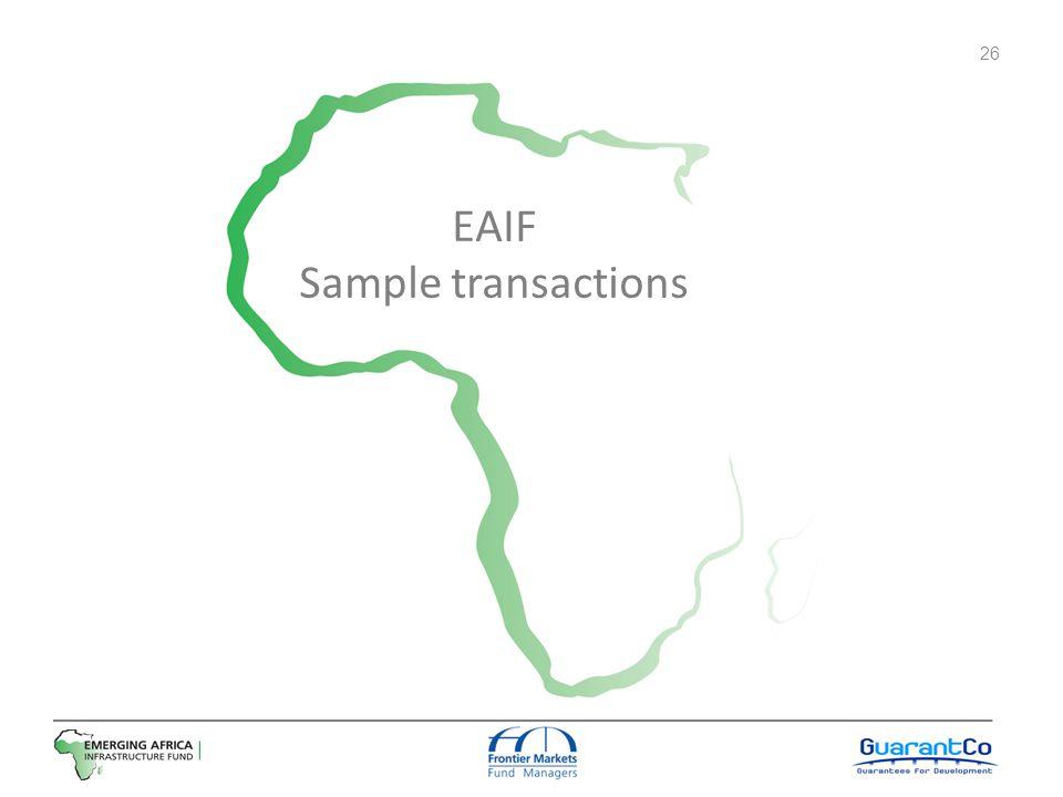 EAIF Sample transactions 26