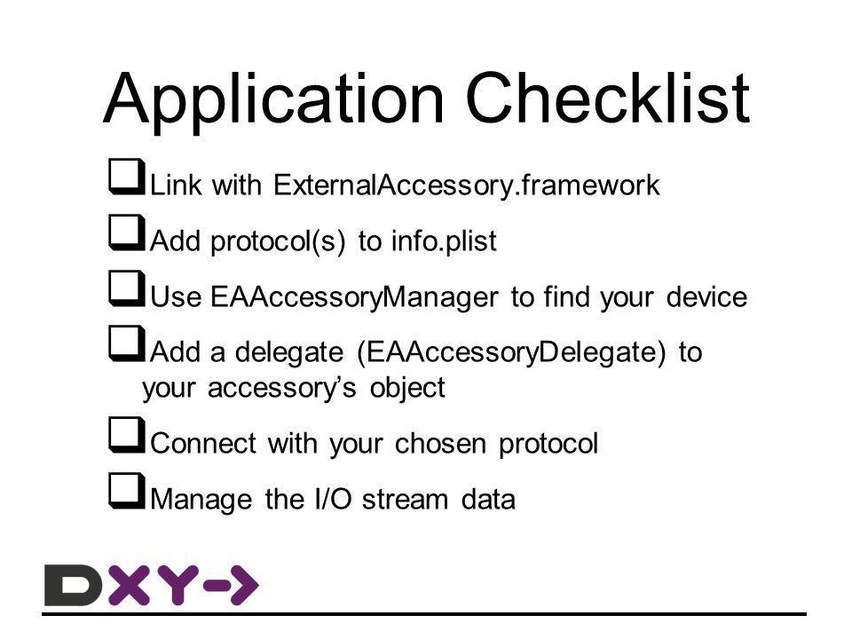 Link with ExternalAccessory.framework