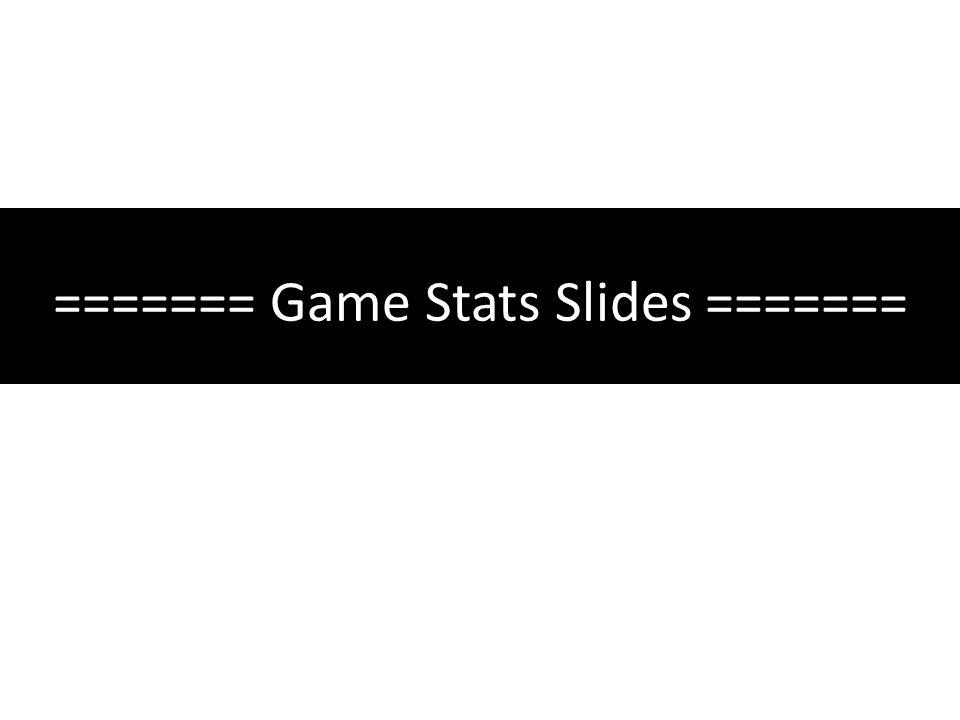======= Game Stats Slides =======