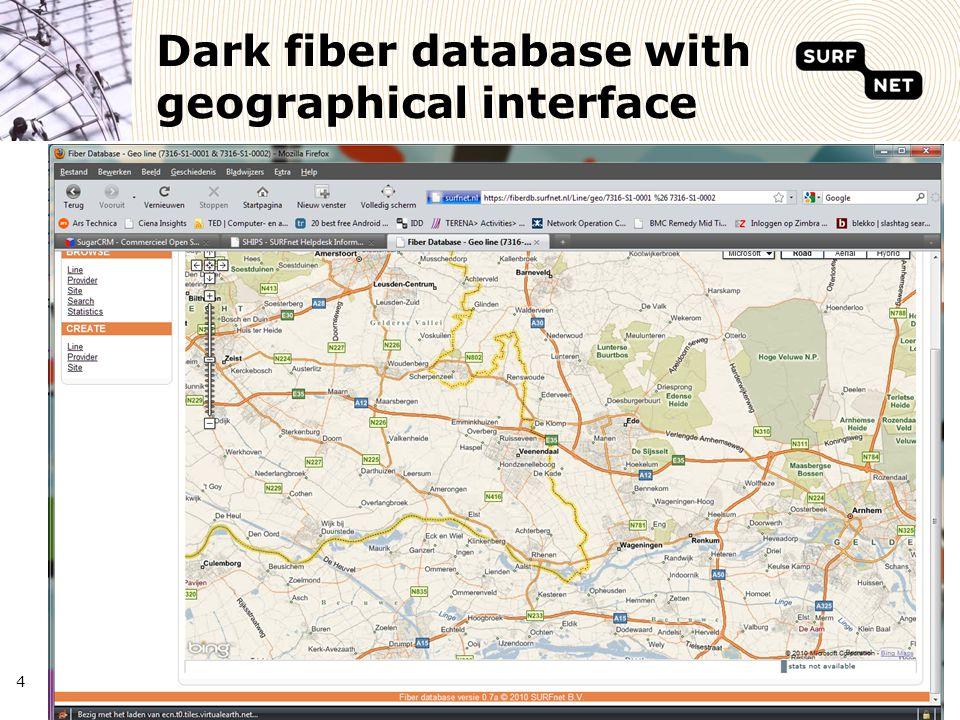 4 Dark fiber database with geographical interface 4