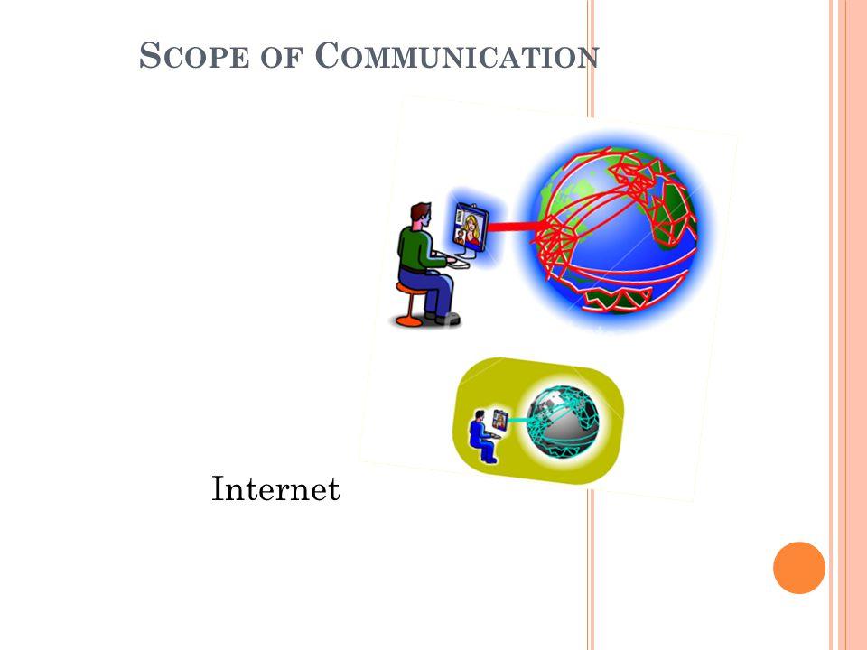 S COPE OF C OMMUNICATION Internet