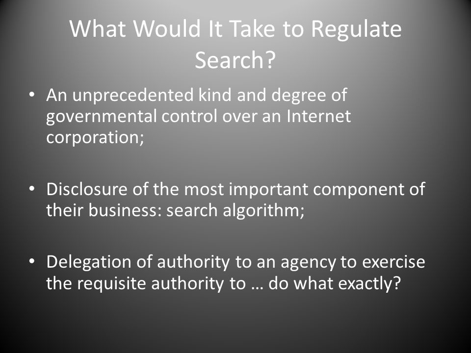 What Would It Take to Regulate Search.