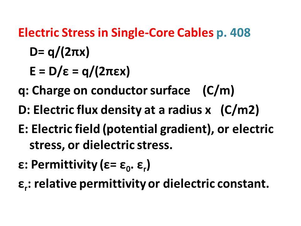 V= 53.8 kV V 1 = 41.3 kV, V 2 =23.94 kV E max = (V-V 1 )/(r.