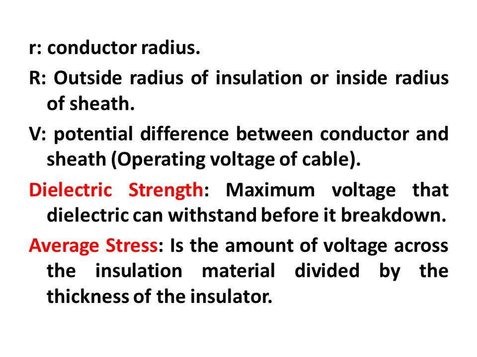 2. Intersheath Grading p.419 V1 V V2 R r1 r2 r ε ε ε V=0