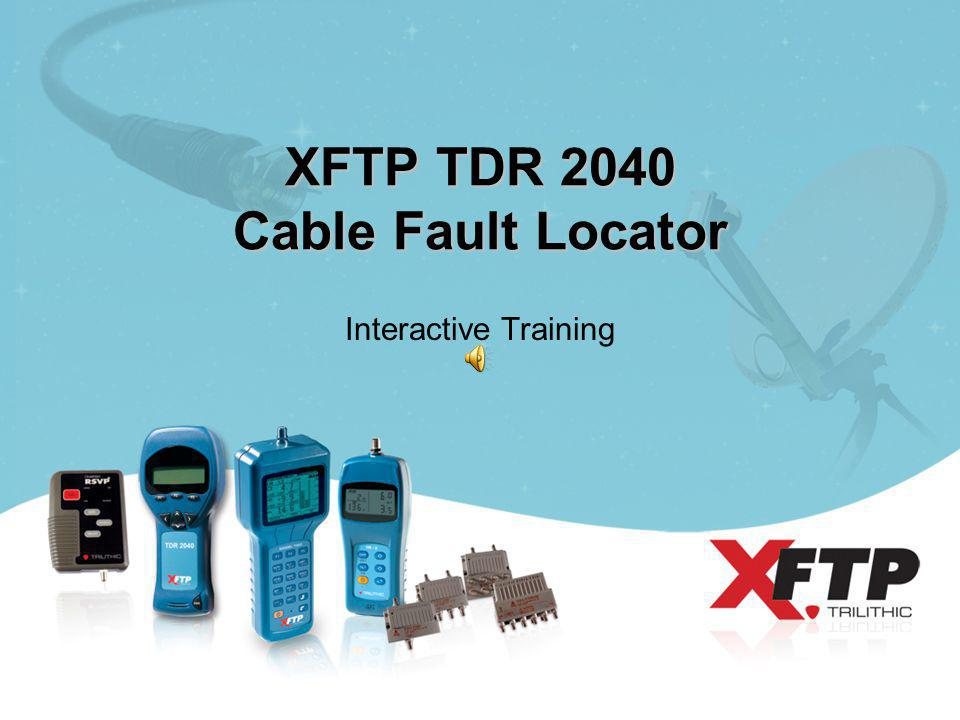 XFTP TDR 2040 Cable Fault Locator Interactive Training